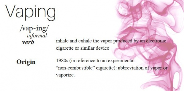 VAPING is the Official Word of the Year!