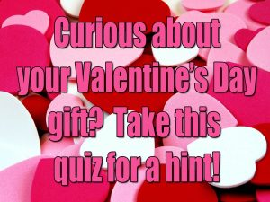 Curious About Your Valetine's Day Gift? Take This Quiz For A Hint!